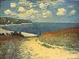 the kiss (le baiser _ il baccio) Paintings - Chemin dans les Bles a Pourville