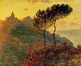 Claude Monet Church at Varengeville against the Sunset painting