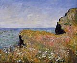 Claude Monet Edge of the Cliff at Pourville painting