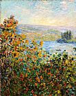 Claude Monet Flower Beds At Vetheuil painting