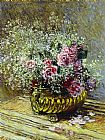 Claude Monet Flowers in a Pot painting
