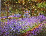 Garden paintings - Irises in Monet's Garden by Claude Monet