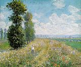 Meadow with Poplars