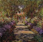 Claude Monet Pathway in Monet's Garden at Giverny painting