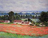 Claude Monet Poppy Field Giverny painting