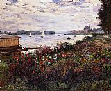 Claude Monet Riverbank at Argenteuil painting