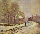 Claude Monet Snow at Argenteuil painting