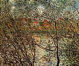 Claude Monet Springtime through the Branches painting