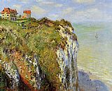 Claude Monet Steep Cliffs At Dieppe painting