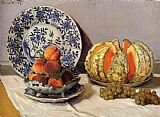 Still Life paintings - Still Life With Melon by Claude Monet