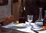 Claude Monet Still Life with Bottles painting