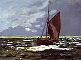 Claude Monet Stormy Seascape painting