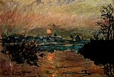 Claude Monet Sunset painting