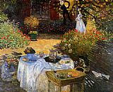 Claude Monet The Afternoon Meal painting