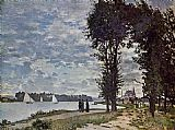 Claude Monet The Banks of the Seine at Argenteuil painting