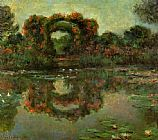 Claude Monet The Flowered Arches at Giverny painting