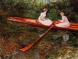Claude Monet The Pink Skiff painting