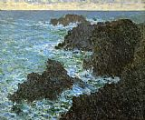 Claude Monet The Rocks Of Belle-Lle painting