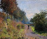 Claude Monet The Sheltered Path painting