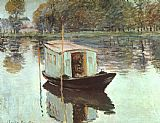 Claude Monet The Studio Boat painting
