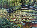 Claude Monet The Water Lily Pond Pink Harmony painting