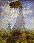 Claude Monet The Woman With The Parasol painting