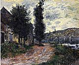 Claude Monet Tow Path at Lavacourt painting