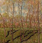 Claude Monet Trees in Winter View of Bennecourt painting