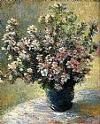 Still Life paintings - Vase Of Flowers by Claude Monet