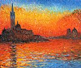 Sunset paintings - Venice Twilight by Claude Monet