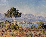 Claude Monet View of Antibes from the Notre-Dame painting