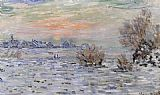 Claude Monet Winter on the Seine Lavacourt painting