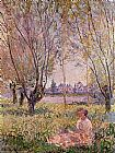 Claude Monet Woman Sitting under the Willows painting