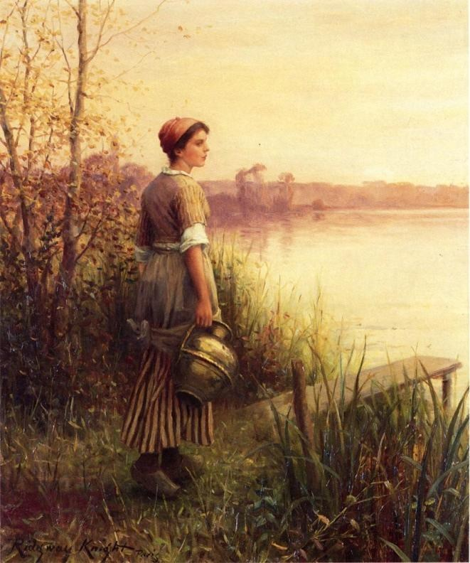 Daniel Ridgway Knight The Golden Sunset