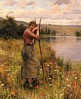 Daniel Ridgway Knight A Moment Of Rest painting
