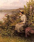 Daniel Ridgway Knight Resting In The Garden painting