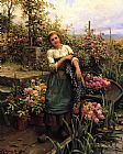 Daniel Ridgway Knight The Flower Boat painting