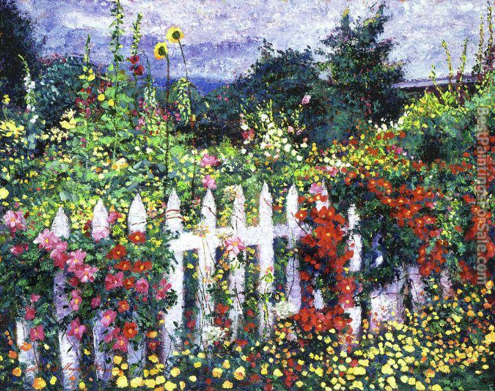 David Lloyd Glover The Painters Palette Garden Painting Best