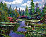 David Lloyd Glover Waterlily Lake Reflections painting