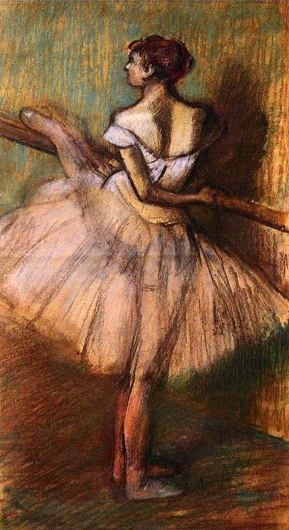 Edgar Degas Dancer At The Barre Ii Painting Best Paintings For Sale