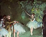 Ballet paintings - Ballet Rehearsal by Edgar Degas