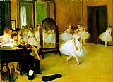 Ballet paintings - dance class by Edgar Degas