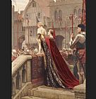 Edmund Blair Leighton A Little Prince Likely in Time to Bless a Royal Throne painting