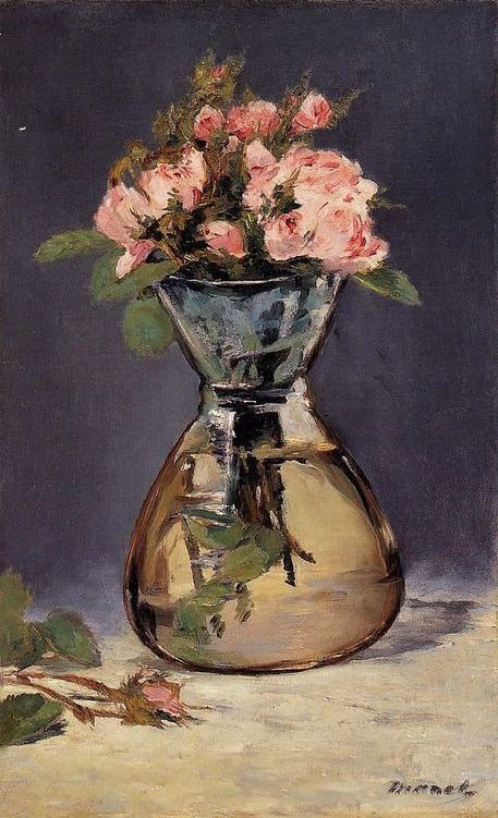 Edouard Manet Moss Roses In A Vase Painting Best Paintings For Sale