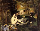 the boating party lunch Paintings - Luncheon on the Grass