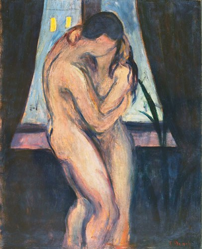 Edvard Munch The Kiss Painting Best Paintings For Sale