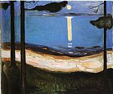 Edvard Munch Moonlight painting