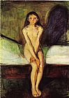 Edvard Munch Puberty painting