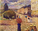 Edvard Munch Spring Day on Karl Johan Street painting