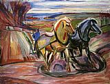Edvard Munch Spring Plowing painting